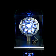 1:1 Scale MK2 Assembled Core DIY Tony Arc Reactor LED Lamp Kit With Display Stand Cover