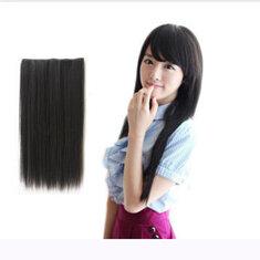 Мода женщин длинные прямые синтетический завиток клип в наращивание волос