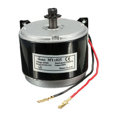 DC 24V Electric Motor Brushed 250W 2750RPM 2-Wired Chain For E-Bike Scooter