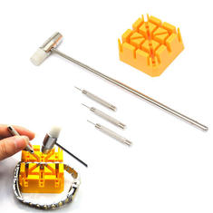 5Pcs Watch Band Link Hammer Punch Pin Watch Strap Holder Remover Watch Repair Tools Kit