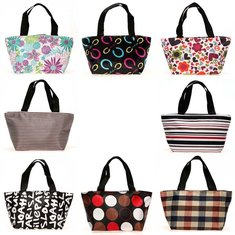 Lunch Box Picnic Dining Shopping Travel Tote Bag Purse Zipper Handbag