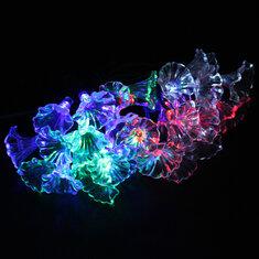 30LED Colorful Solar Petunia Flower String Light Christmas Decorative