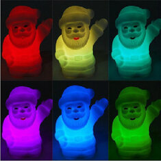 Colour Changing Christmas Claus Small LED Night Lamp
