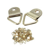100pcs Golden Metal Photo Picture Frame Hook Hanger Triangle Ring