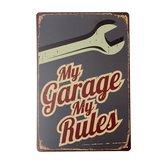 minha garagem Placa de lata de placa de metal bar poster pub decoração home da parede do vintage