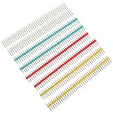 10pz 1x40P 40 Pin Poli 2,54mm Striscia di Connettore Pin Header Maschio Dritto a Singola Riga