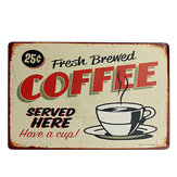 Koffie Tin Sign Retro Vintage Metaal Plaque Bar Pub Cafe Muur Decor