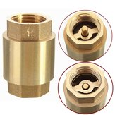 1/2 Inch NPT Vertical In Line Spring Loaded Brass Check Valve