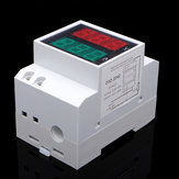 AC 80-300V Din Rail AC LED Dual Display Volt Meter Ammeter Voltage Ampere Gauge
