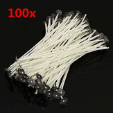 100szt. 20cm Wosk Candle Cotton Wicks z Metal Sustainers