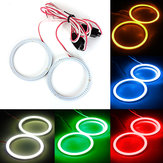 2 x 80mm 93LED CCFL Far COB Angel Eyes Halo Halka Lamba
