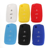 Silicone Remote Key Case Shell Flip FOB For VW Golf Mk6 Jetta Polo
