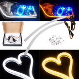 30cm Wit Amber Switchback Koplamp LED Strip Drl Run Light