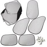 6PCS Gümüş Reflektif Araba Pencere UV Güneşlik Güneşlik Kapağı Katlanabilir
