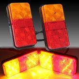 2 PCS 12V 10LED Truck Mobil Belakang Tail Light Berhenti Lampu Indikator Lampu Belakang