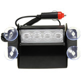 4 LED Emergency Car Wind Shield Sucker Warning Strobe Flashlight