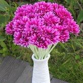 10db napsugár művirág anya Gerber százszorszép menyasszonyi csokor selyem esküvői virágok
