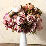 Artificiale Peony Bouque Fiori di seta Home Room Party Wedding Garden Decoration