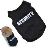 Black Cool Dog Vest Pet Cat Puppy Summer Clothes T-Shirt Cotton Coat Apparel Costumes