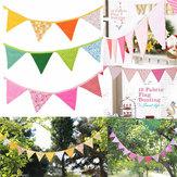 Güzel Elişi Kumaş Flags Buntings Flamalar Düğün Birthday Party Decoration Flag Bunting