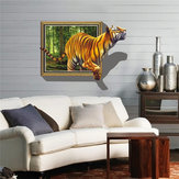 3D Removable Tiger Wall Decal Wall Stickers Home Bedroom Wall Background Decoration