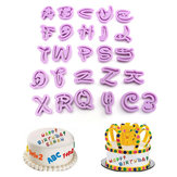 26pcs alfabeto plástico ferramenta de molde carta cortador de biscoitos biscoito fondant de decoração do bolo