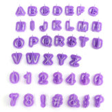 40PCS Plastic Alphabet Letter Cake Biscuit Baking Mould Fondant Cookie Cutters
