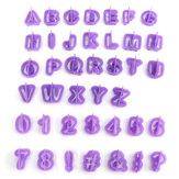 40pcs lettre de l'alphabet plastique coupe gâteau biscuit moule de cuisson de biscuit fondant