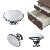 Bianco armadio cassetto della porta della cucina manopola armadio ceramica maniglia estraibile