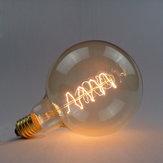 G125 e27 40w 220v lâmpada incandescente fio envoltório edison retro bulbo
