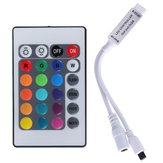 24 Key Mini IR Remote Controller For 3528 5050 RGB LED Strip Light DC 12V