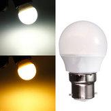B22 3w branco quente ac / branco 220v 8 SMD 2835 LED globo lâmpada