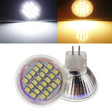 MR11 24 SMD 3528 1.5W Warmwhite / White AC / DC 12V LED Пятно лампочка