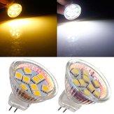 MR11 1.5W 9 SMD 5050 caldo bianco / bianco AC / DC 12V LED Lampadina Spotlightt