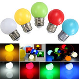 E27 2W PE Frosted LED Globe Colorful White/Red/Green/Blue/Ylellow Lamp AC110-240V