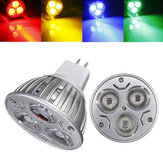 MR16 3W DC 12V 3 LED Rouge / Jaune / Bleu / Vert Ampoules Spot LED