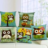 Cartoon Owl Print Pillow Case Home Office Car Cushion
