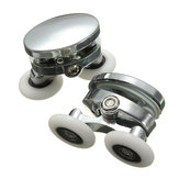 2Pcs 25mm Shower Door Rollers Zinc Alloy Bathroom Wheel Accessories Glass Hardware