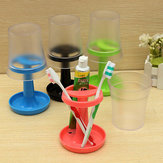 Creative Table Lamp Shape Toothbrush Holder Wash Gargle Suit
