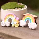 Mikro Peyzaj Süslemeleri Mini Gökkuşağı Bahçe Peyzaj