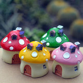Mini Resin Mushrooms House Micro Landscape DIY Decorations