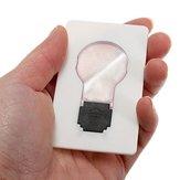 5 قطع المحمولة ليد بطاقة ضوء جيب مصباح محفظة محفظة ضوء الطوارئ