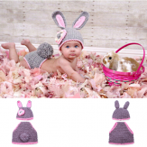Cute Rabbit Baby Infant Crochet Costume Photography Prop Clothes