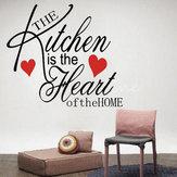 Geniş Dekorasyon Çıkarılabilir Mutfak Kalp Ev Duvar Çıkartması Desen