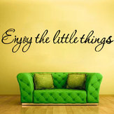 DIY Geniet van het kleine ding Removable Art Vinyl Quote Wall Sticker Muurschildering