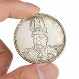 Top dragão chapéu chinês moedas cobrar velho china moeda Yuan Shikai prata tibet