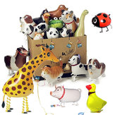 Gehende Haustier Balloon Kids Kinder Geschenke Party Tier Folien Ballone