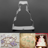 Wedding Dress Cookie Cutter Fondant Cake Biscuit Mold Multifunction Baking Tools
