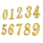 House Hotel Golden Doorplate Number 0-9 With Screws