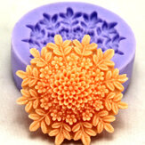F0127 Silicone Flower Cake Mould Soap Chocolate Fondant Mould